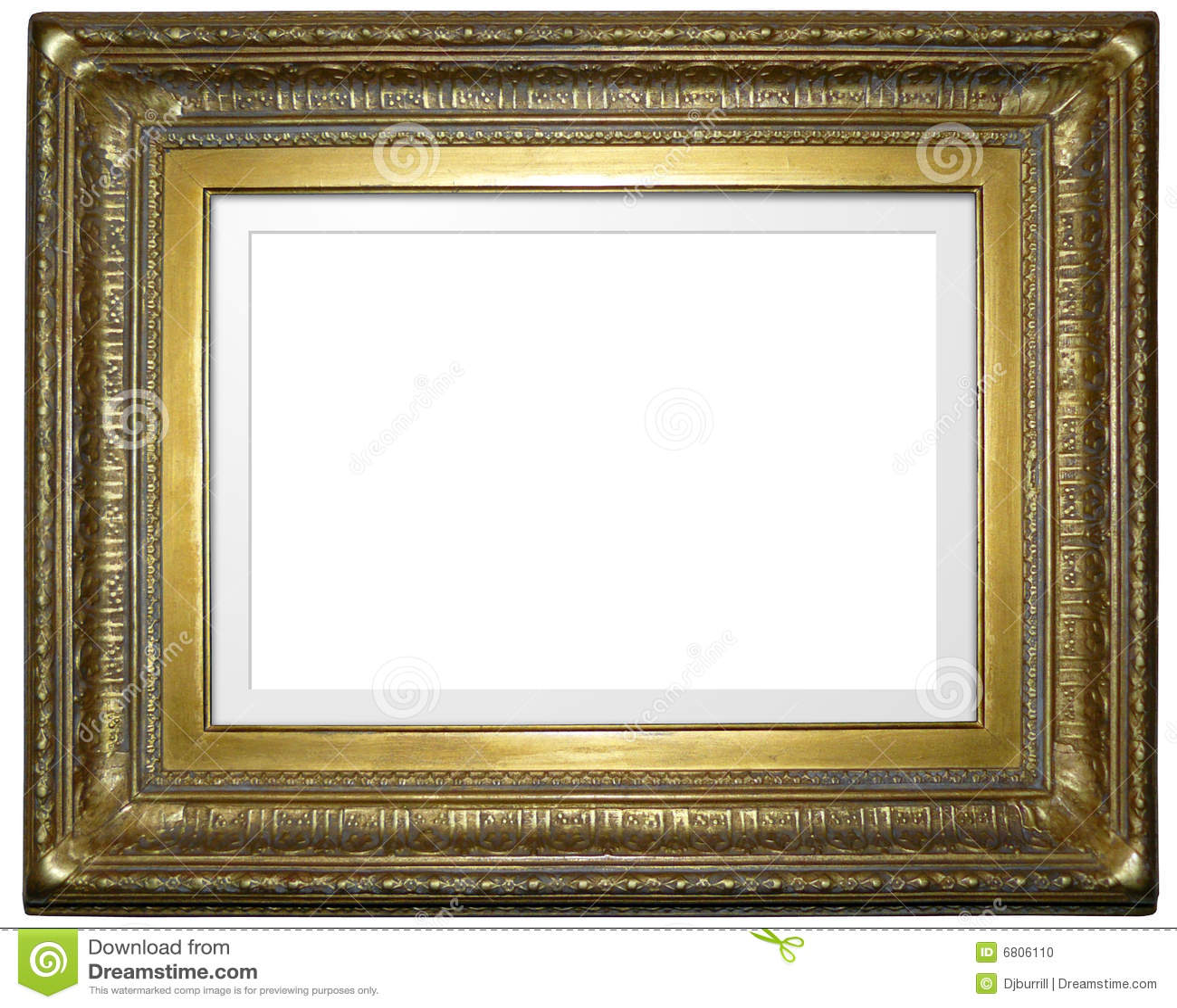Antiker Bilderrahmen stockfoto. Bild von gestalten, alter - 6806110