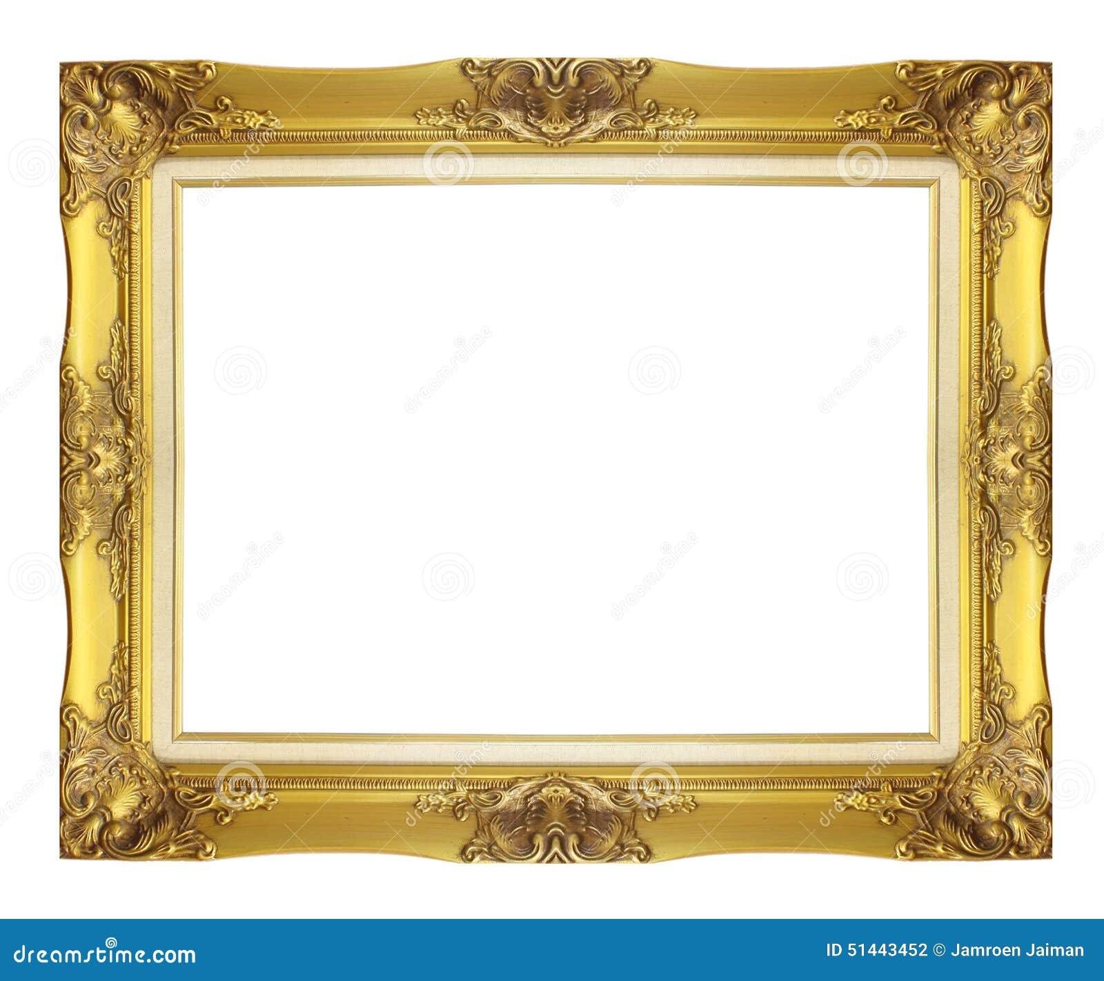 Antiker Goldener Rahmen Lokalisiert Auf Weißem Hintergrund Stockfoto ...