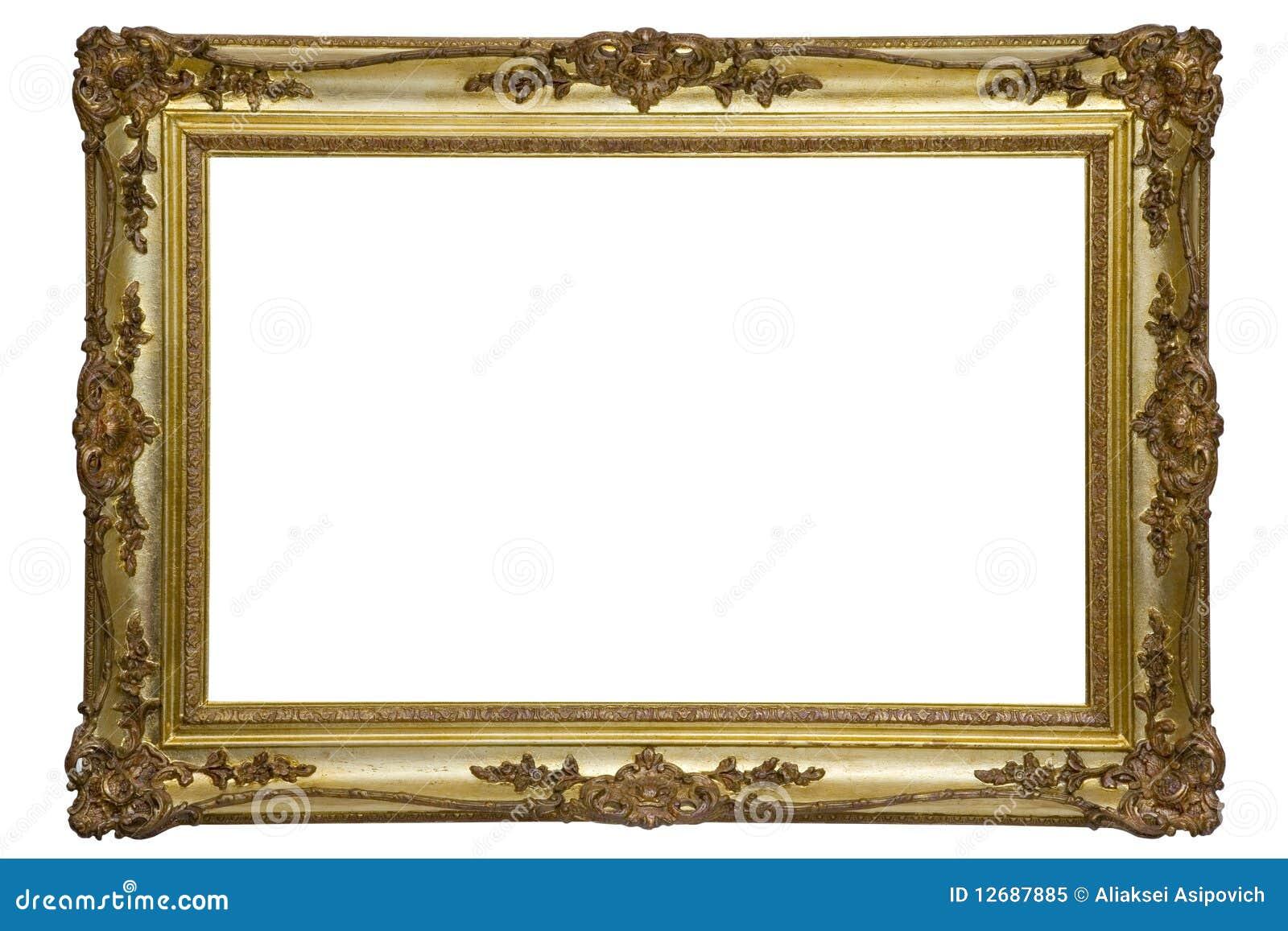 Antiker Holzrahmen stockbild. Bild von kunst, leer, grunge - 12687885