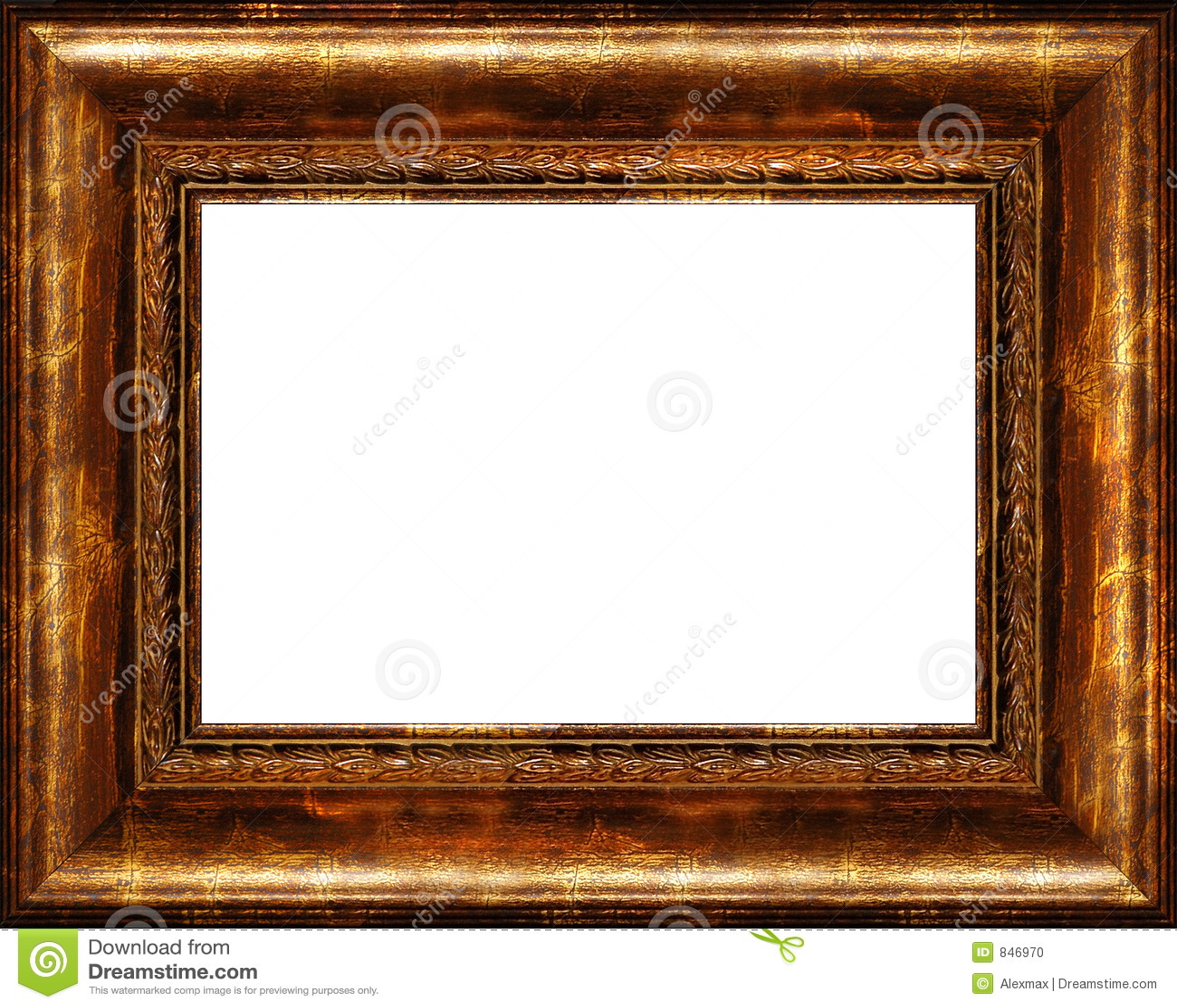 antiker rustikaler dunkler goldener bilderrahmen getrennt stockfoto bild von klassisch. Black Bedroom Furniture Sets. Home Design Ideas