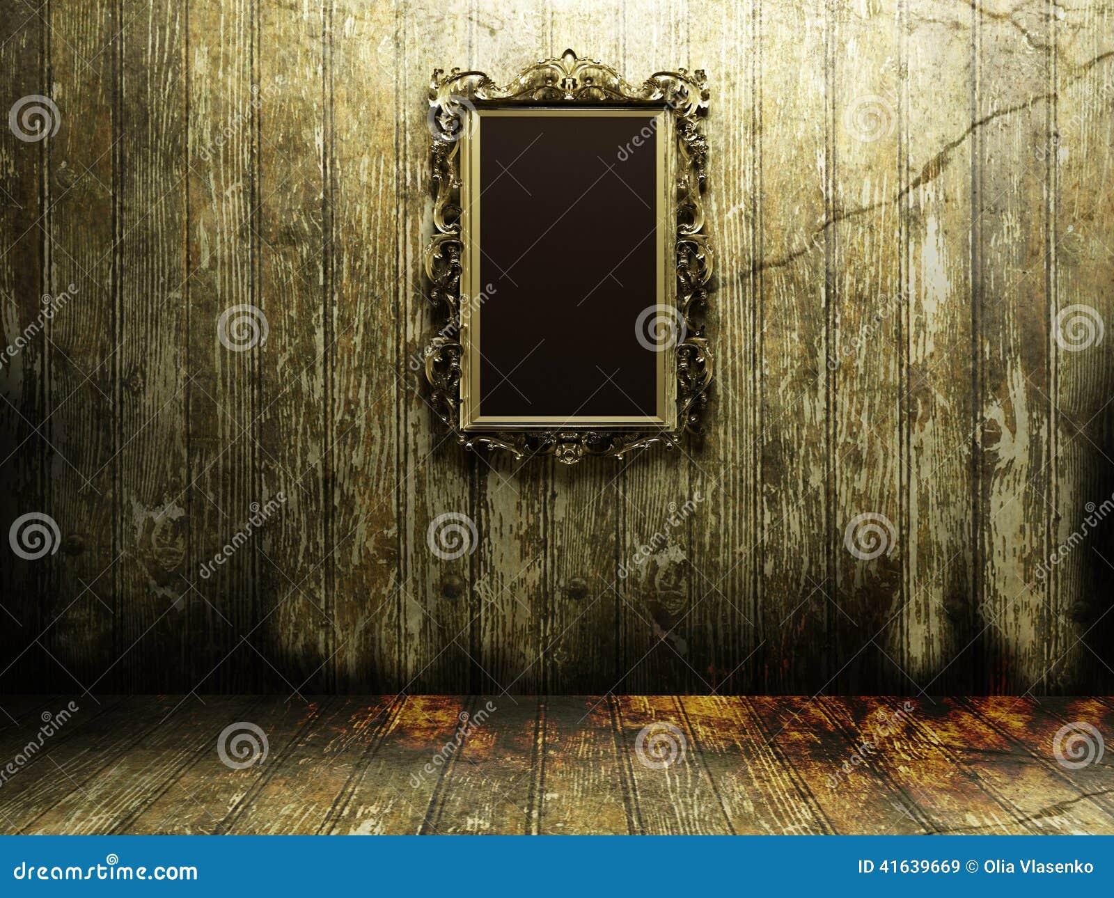 antiker spiegel in einer dunkelkammer stock abbildung. Black Bedroom Furniture Sets. Home Design Ideas