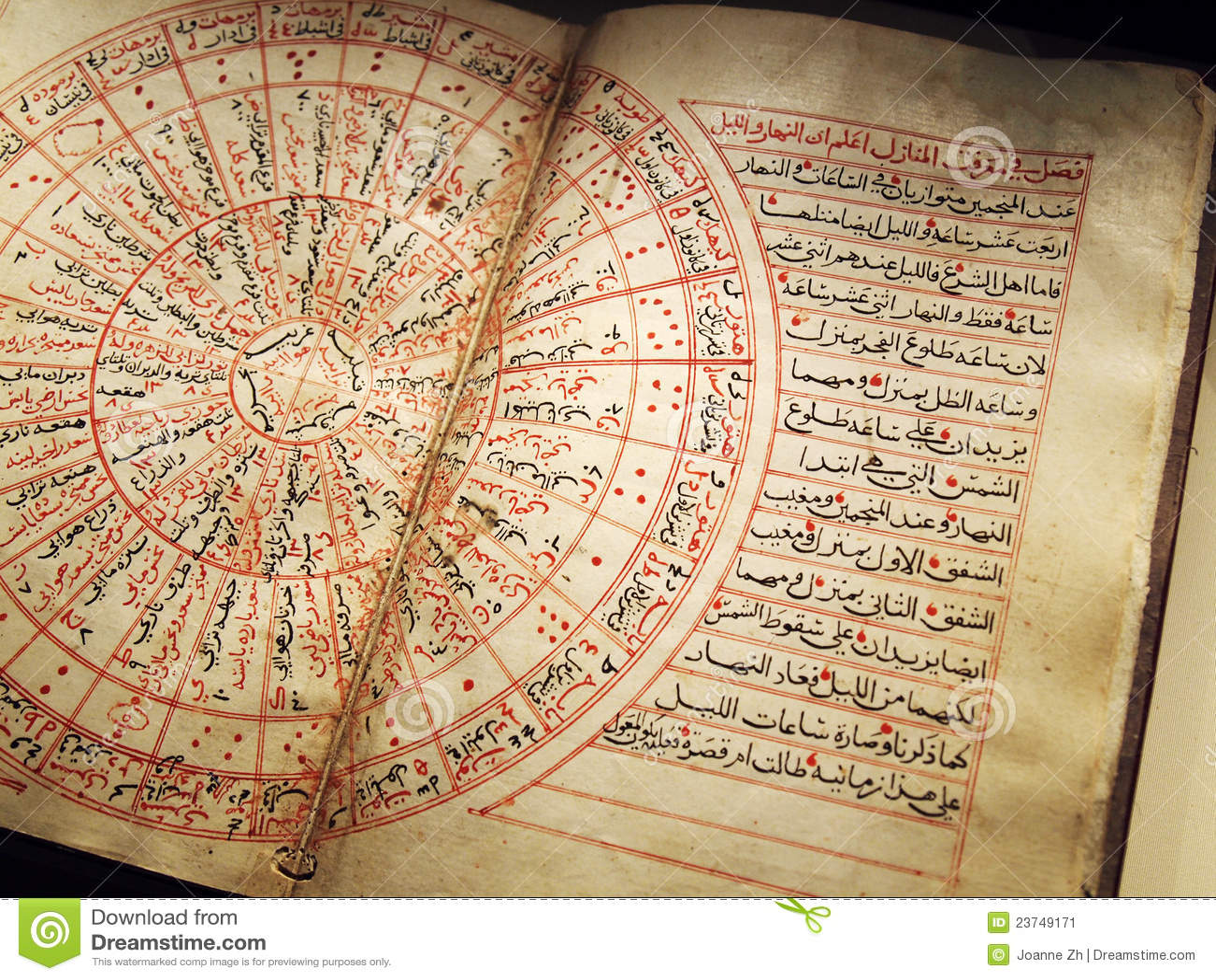 antikes arabisches buch auf astronomie stockbild bild von arabisch araber 23749171. Black Bedroom Furniture Sets. Home Design Ideas