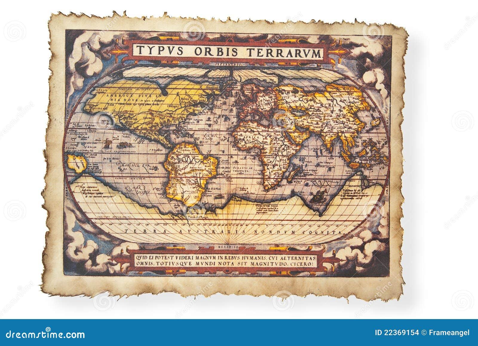 Antikes Diagramm der Welt
