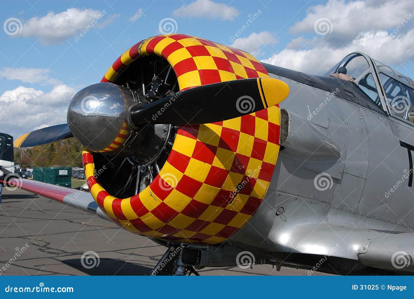 Antikes Flugzeug