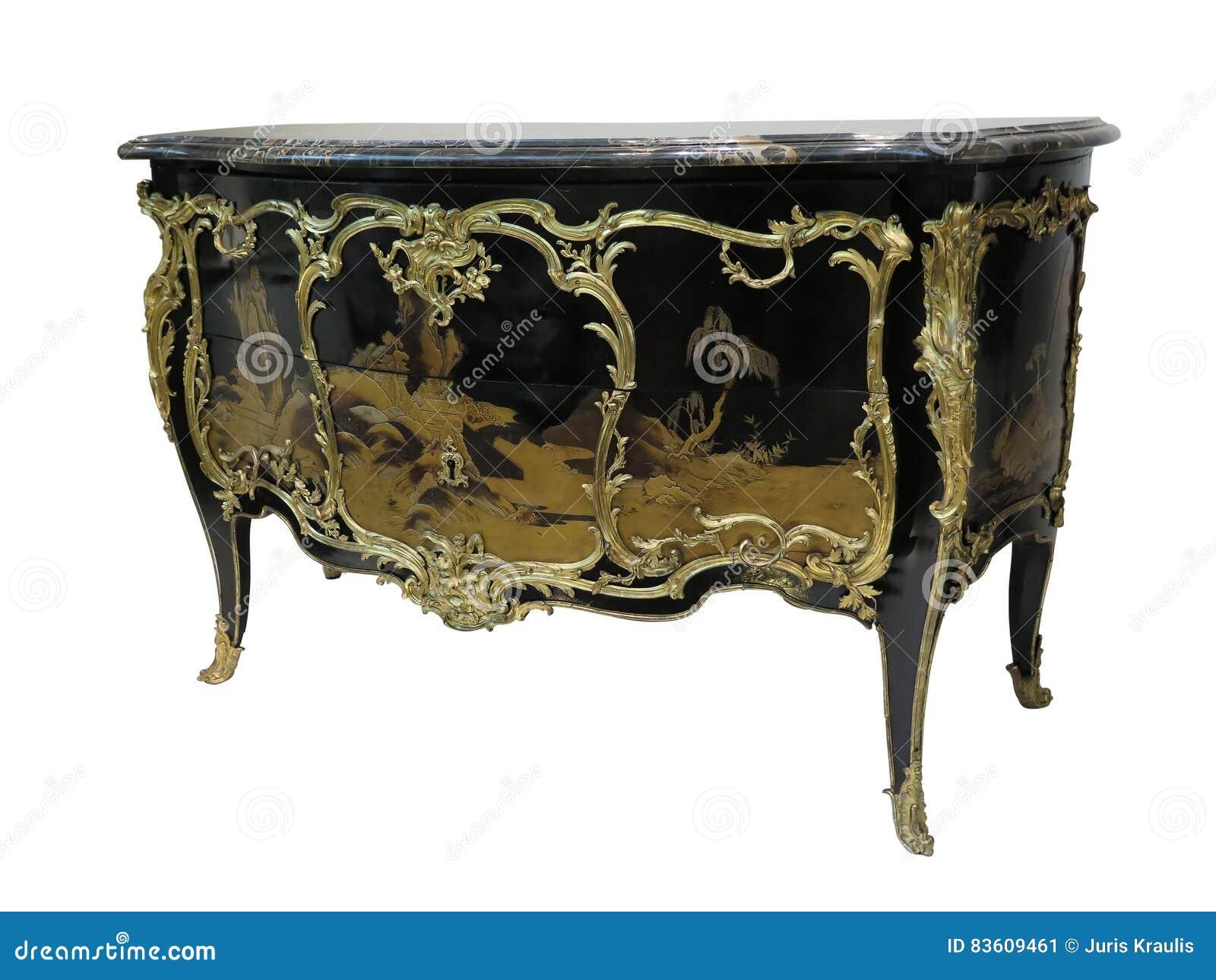 Antikes Kommode Bekannt Als Eingelegten Malergoldmobel Der Kommode