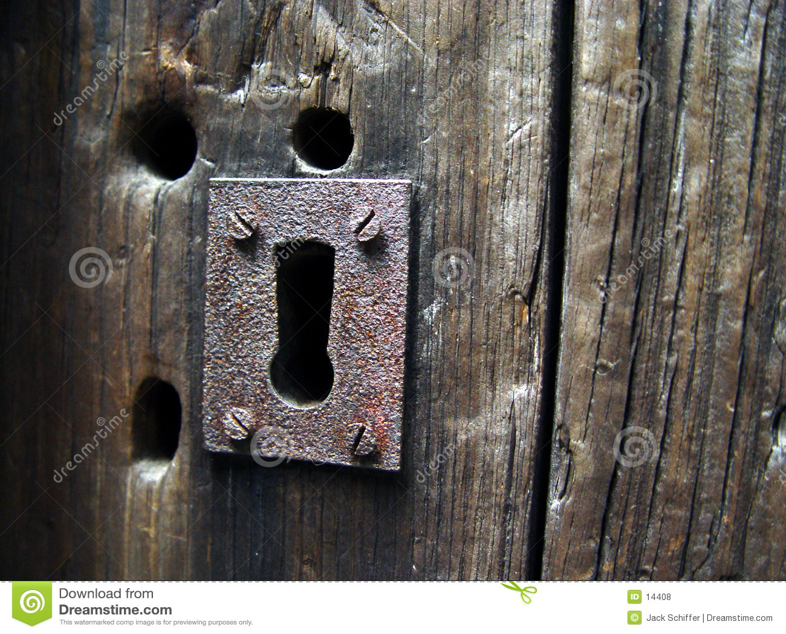 Antikes Schlüsselloch