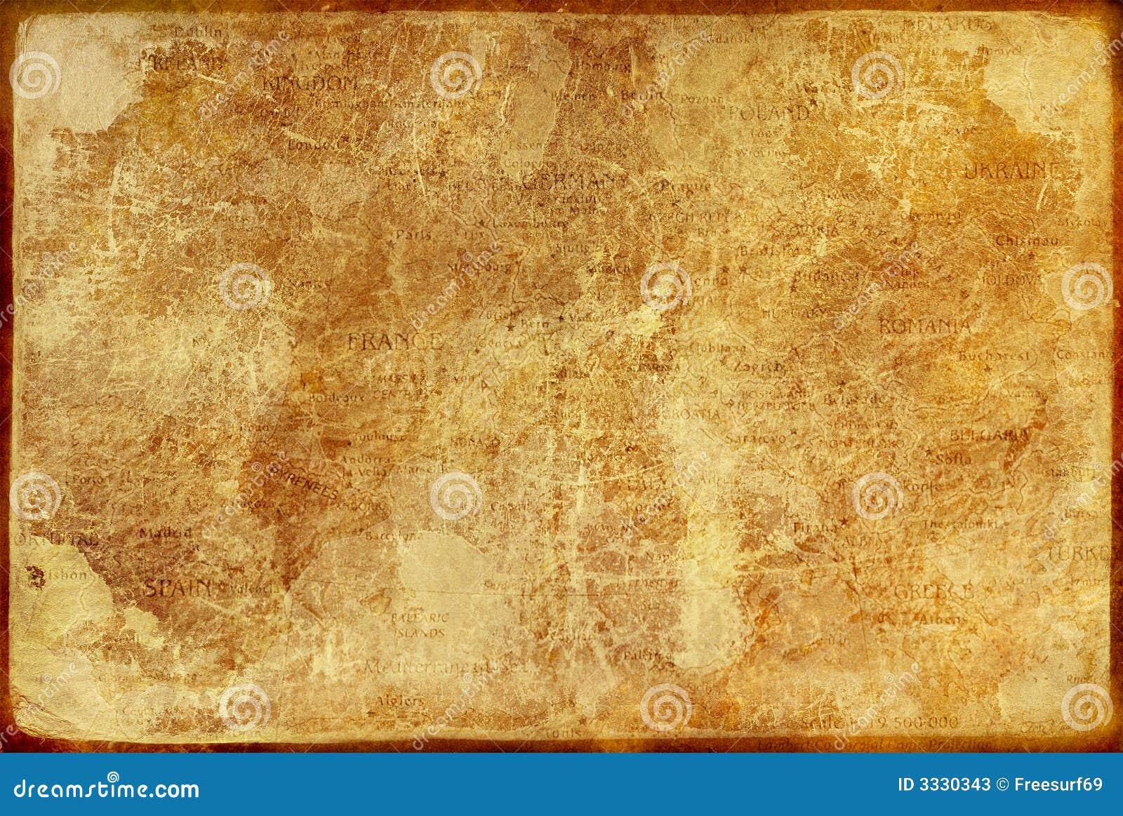 Antikt gammalt papper
