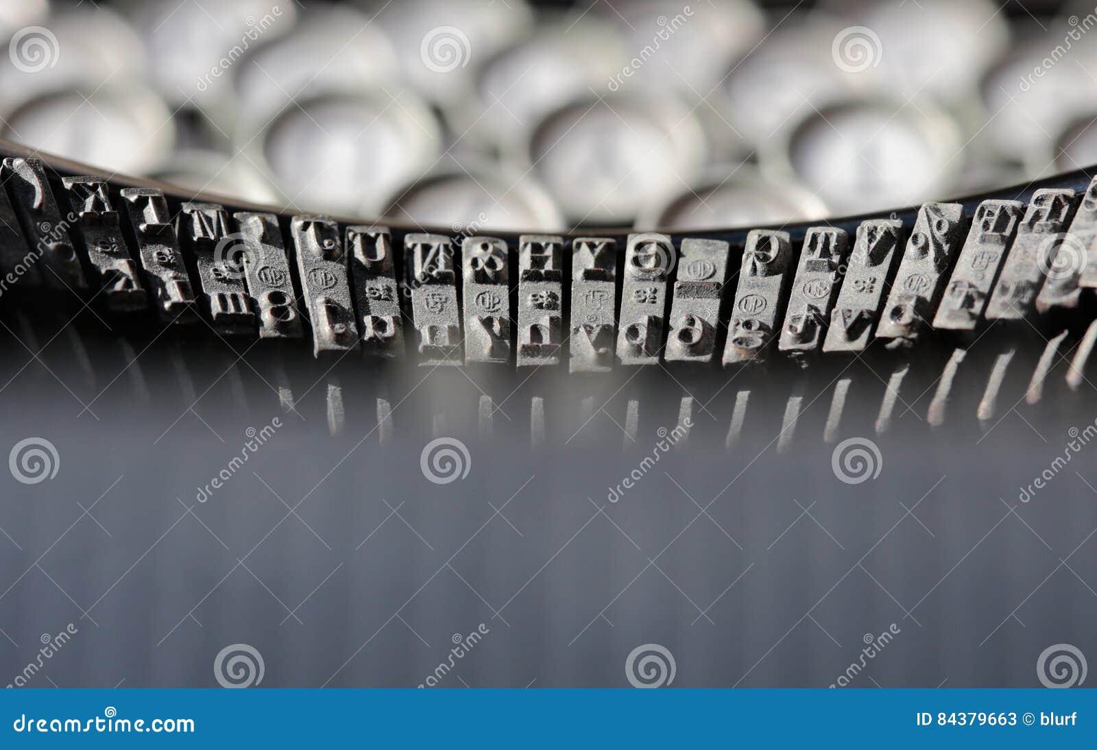 Antikviteten keys skrivmaskinen