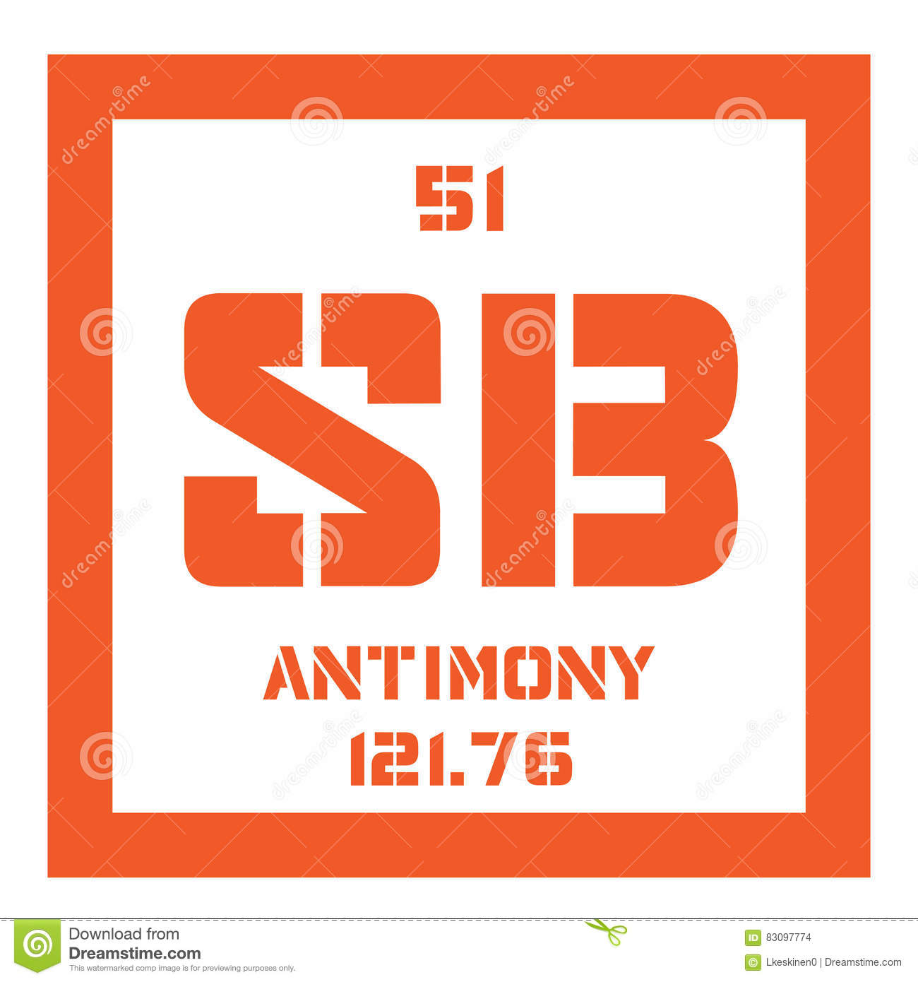 Antimony on periodic table gallery periodic table of elements list antimony chemical element stock photo image of symbol 83097774 urtaz Gallery
