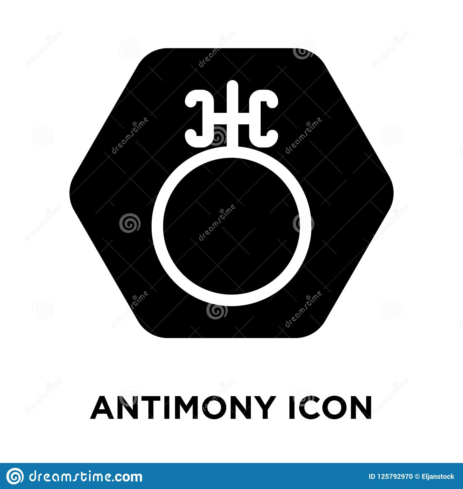 Antimony Icon Vector Isolated On White Background Logo Concept