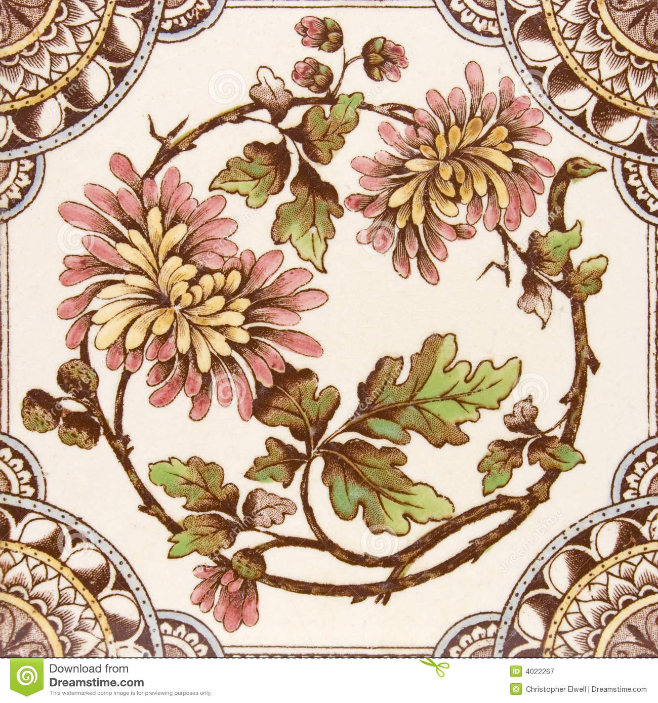 Antique Aesthetic Period Tile Stock Image Image Of Hand