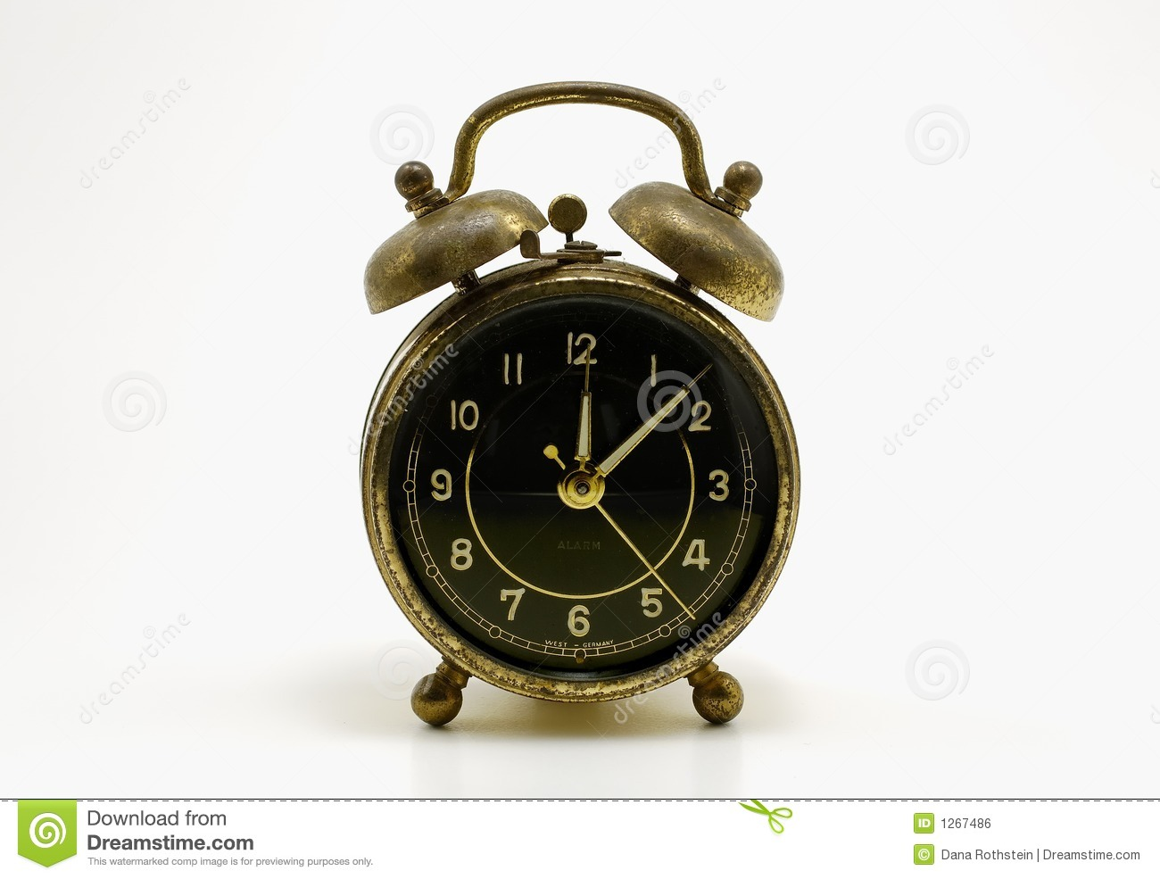 Antique Alarm Clock Royalty Free Stock Image - Image: 1267486