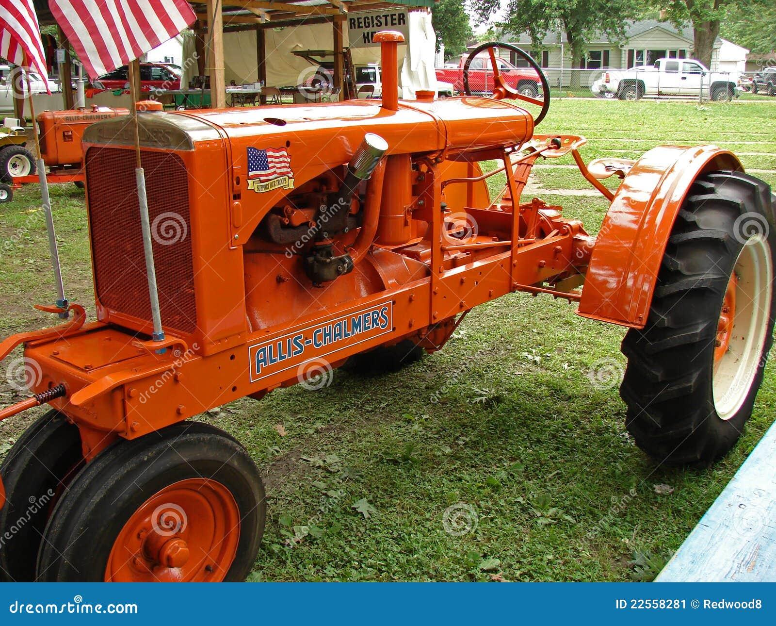 Vintage Allis Chalmers Tractors : Antique allis chalmers tractor editorial photo image of