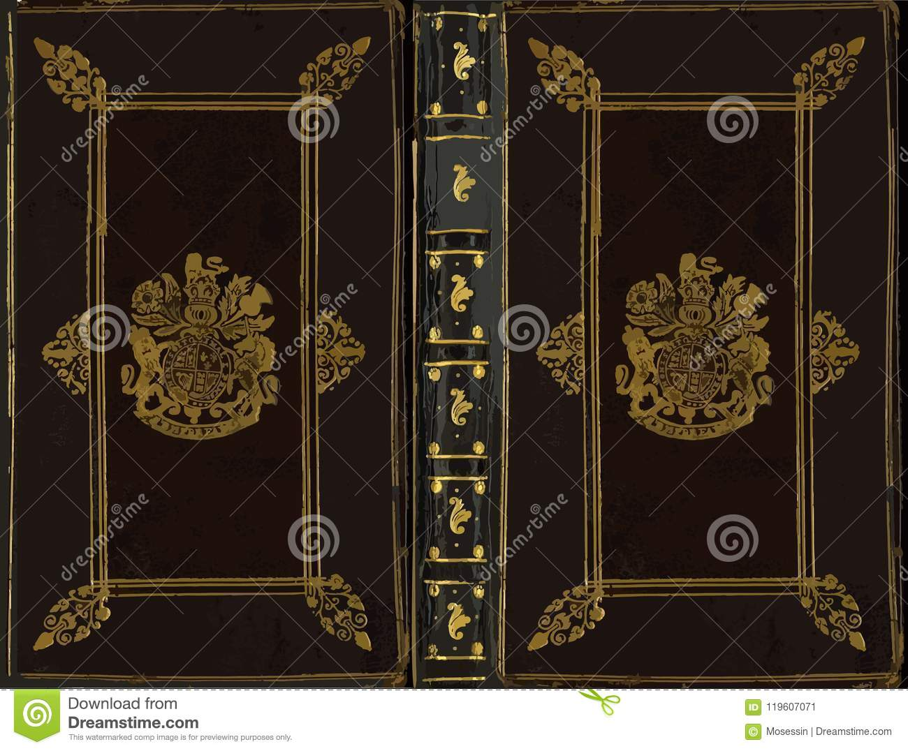 Old Book Cover Vector