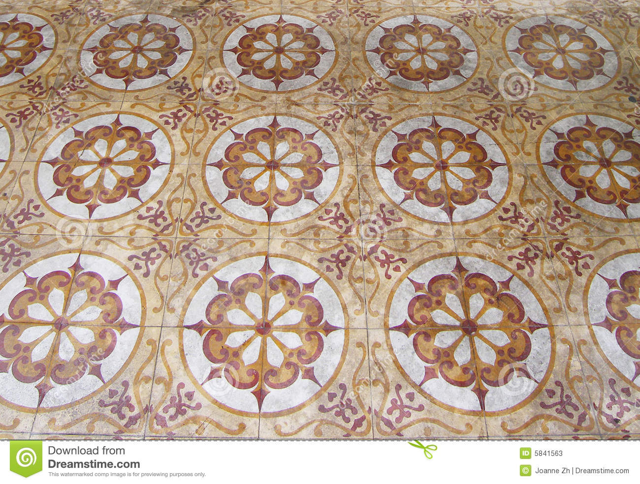 Antique Arabic Floor Tiles Stock Photos Image 5841563