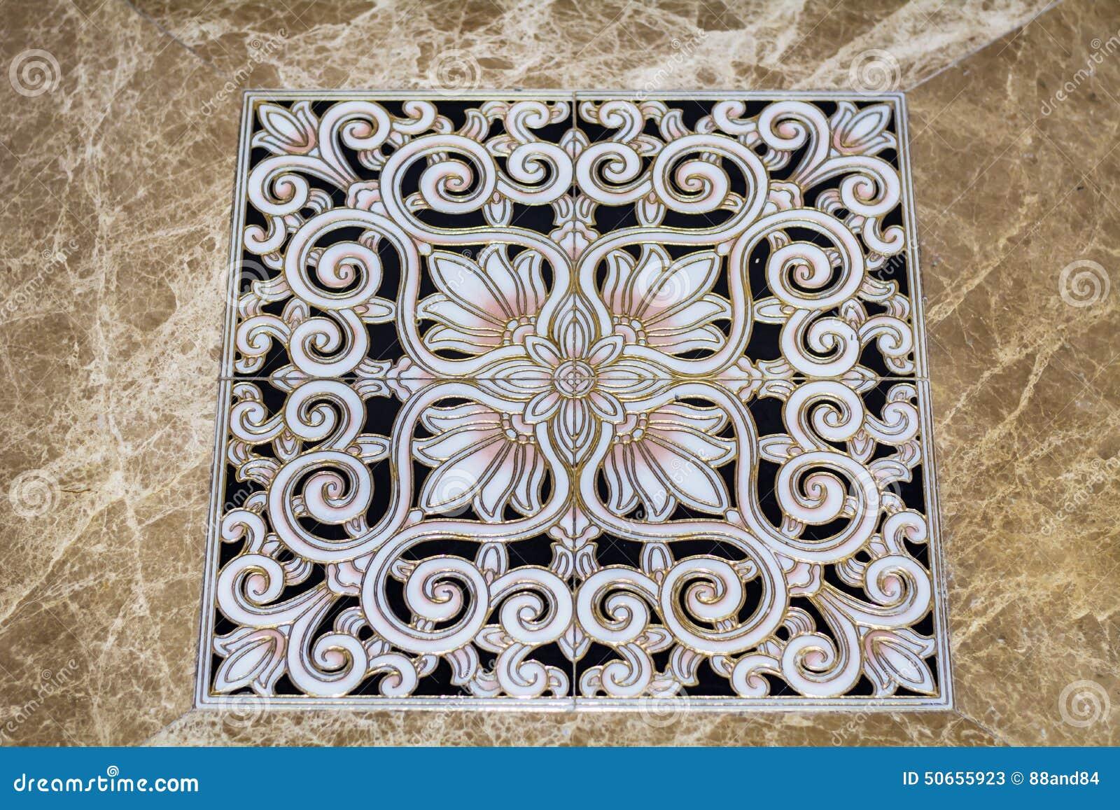 Antique Arabic Floor Tiles Stock Photo Image 50655923