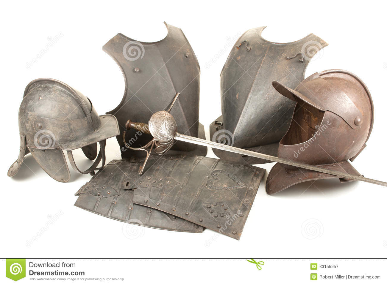 Antique Arms And Armor Royalty Free Stock Photography - Image: 33155957