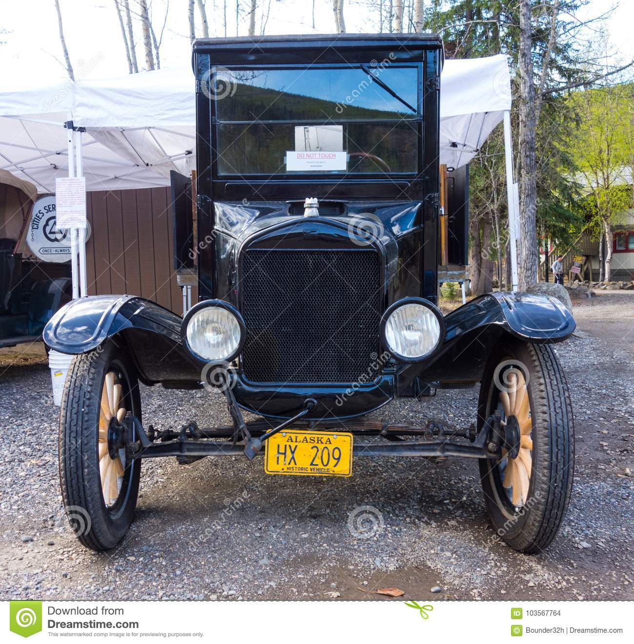 An Antique Automobile On Display At Chena Hot Springs ...