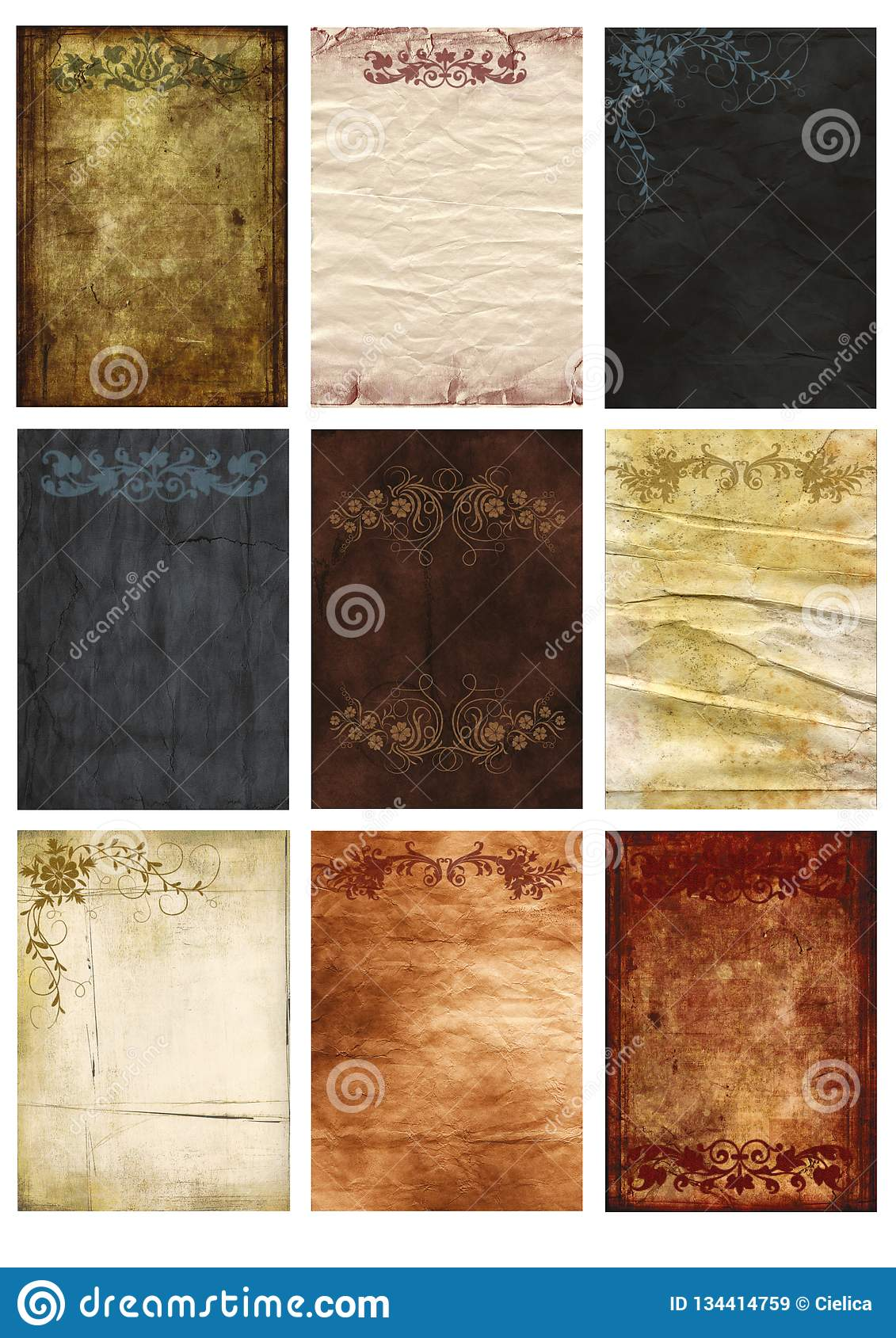 graphic relating to Printable Textures identified as Antique Backgrounds Aged Paper Tags Attractive Floral