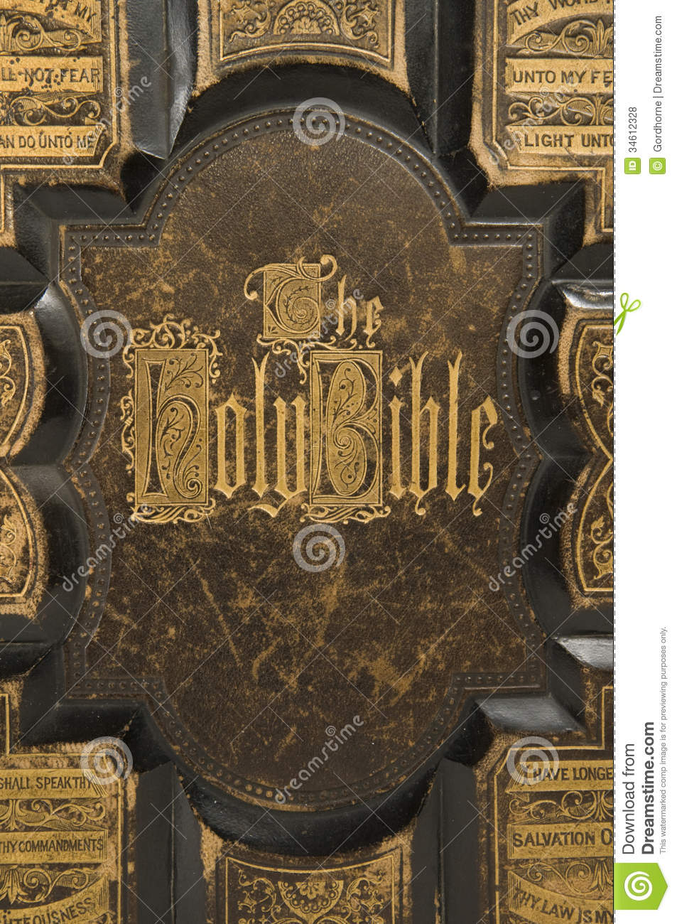 Antique Bible Cover Text Stock Photo Image Of Songbook