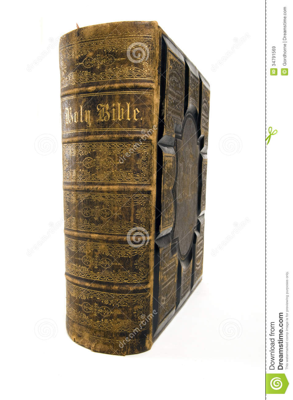 Vintage Leather Look Jeremiah Verse Bible Book Cover Large: Antique Bible Stock Image. Image Of Black, Holy