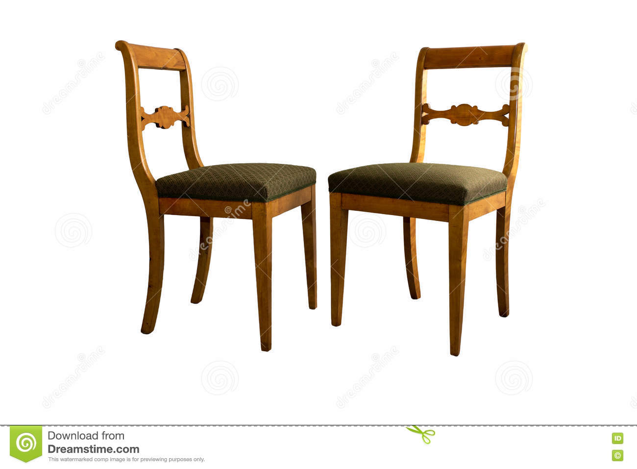 Royalty Free Stock Photo. Download Antique Biedermeier Chair ...