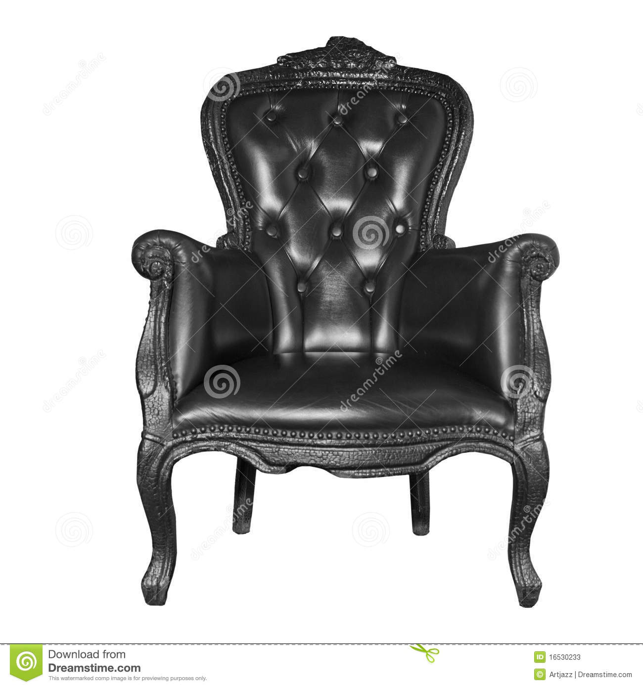 Antique black leather chair - Antique Black Leather Chair Stock Image - Image Of Antique
