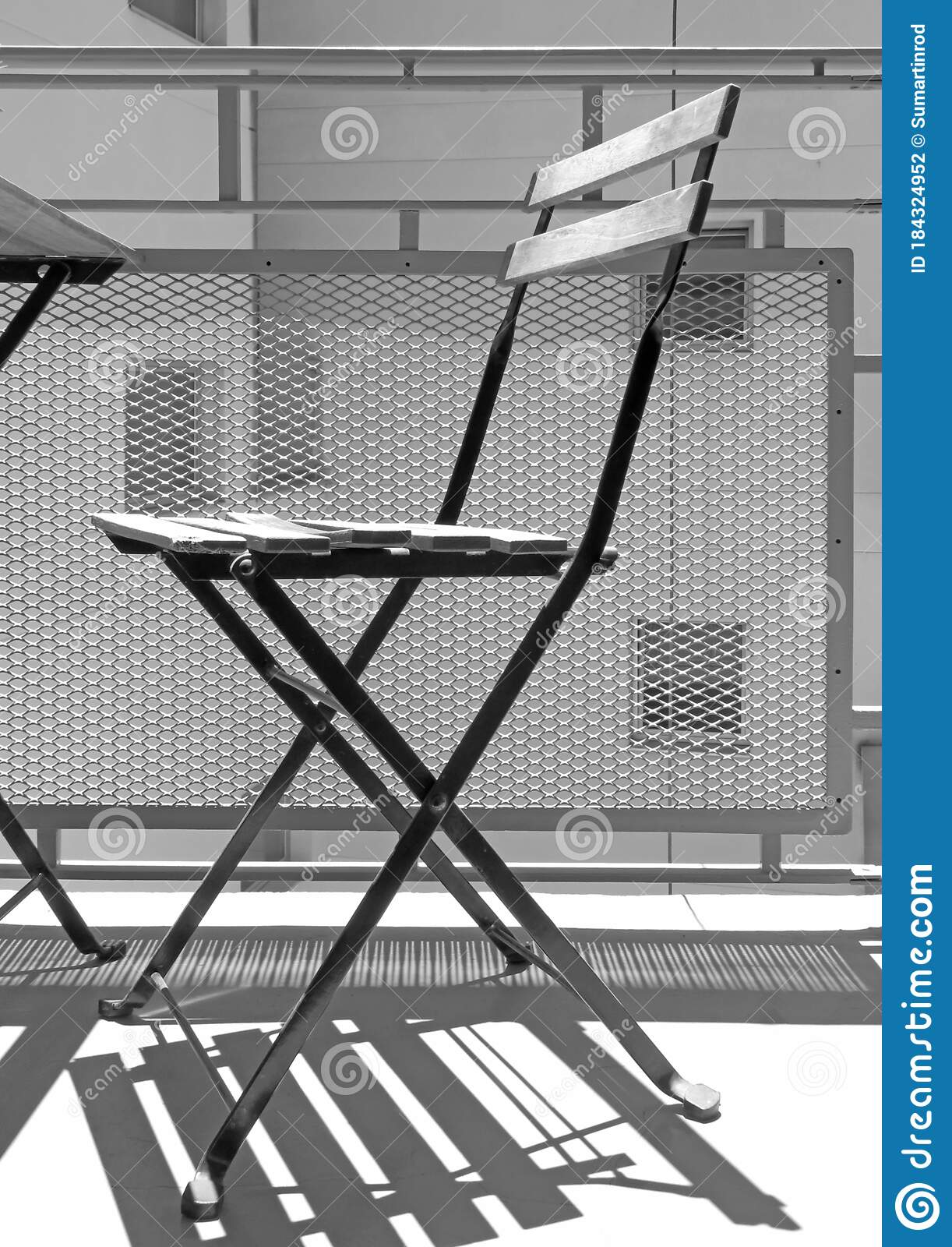 Antique Black And White Wooden Folding Chair Interior Design Modern Urban Architecture Detail Stock Photo Image Of Building Isolated 184324952