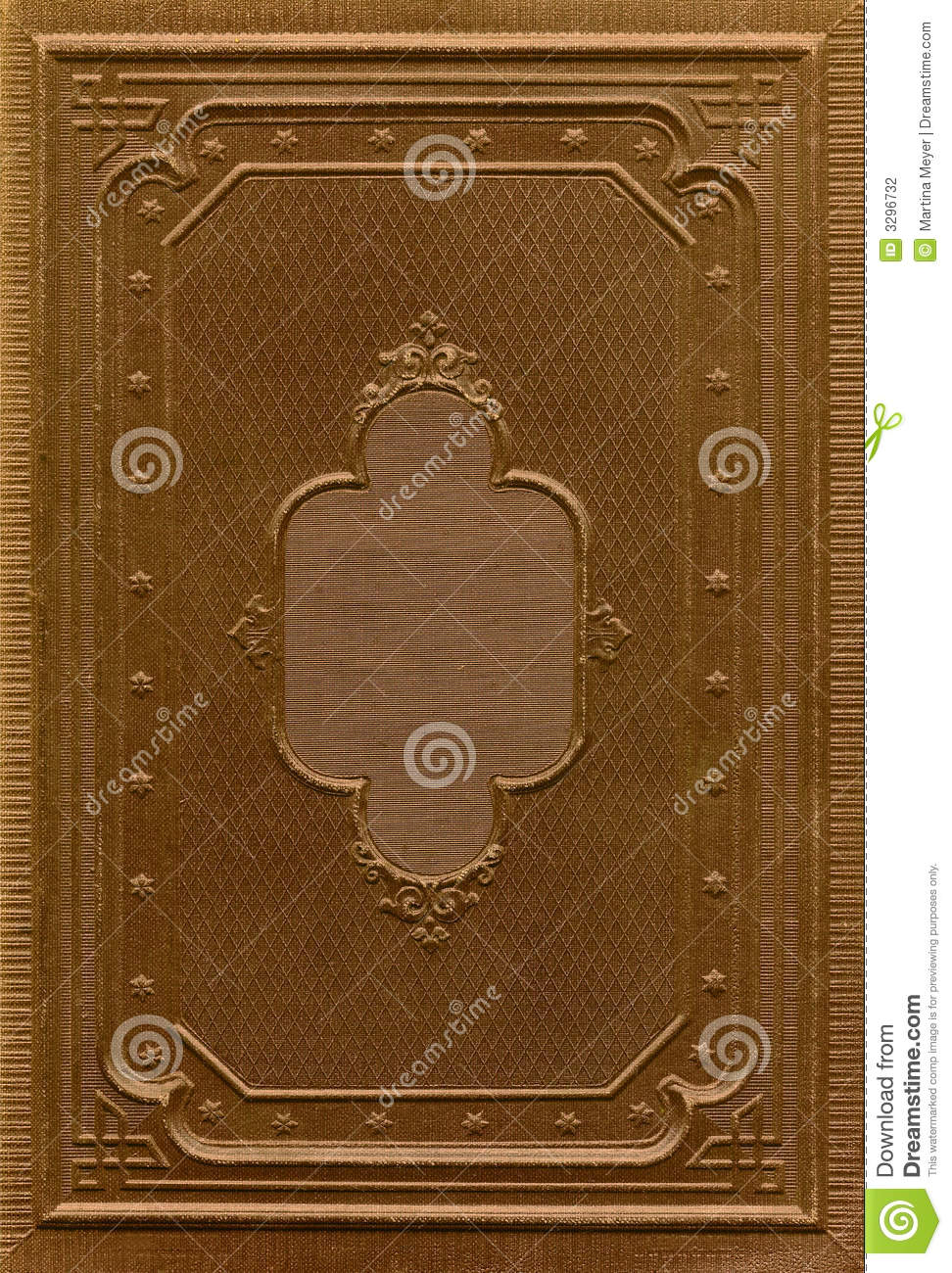 Antique Book Cover Stock Photo Image Of Design Front