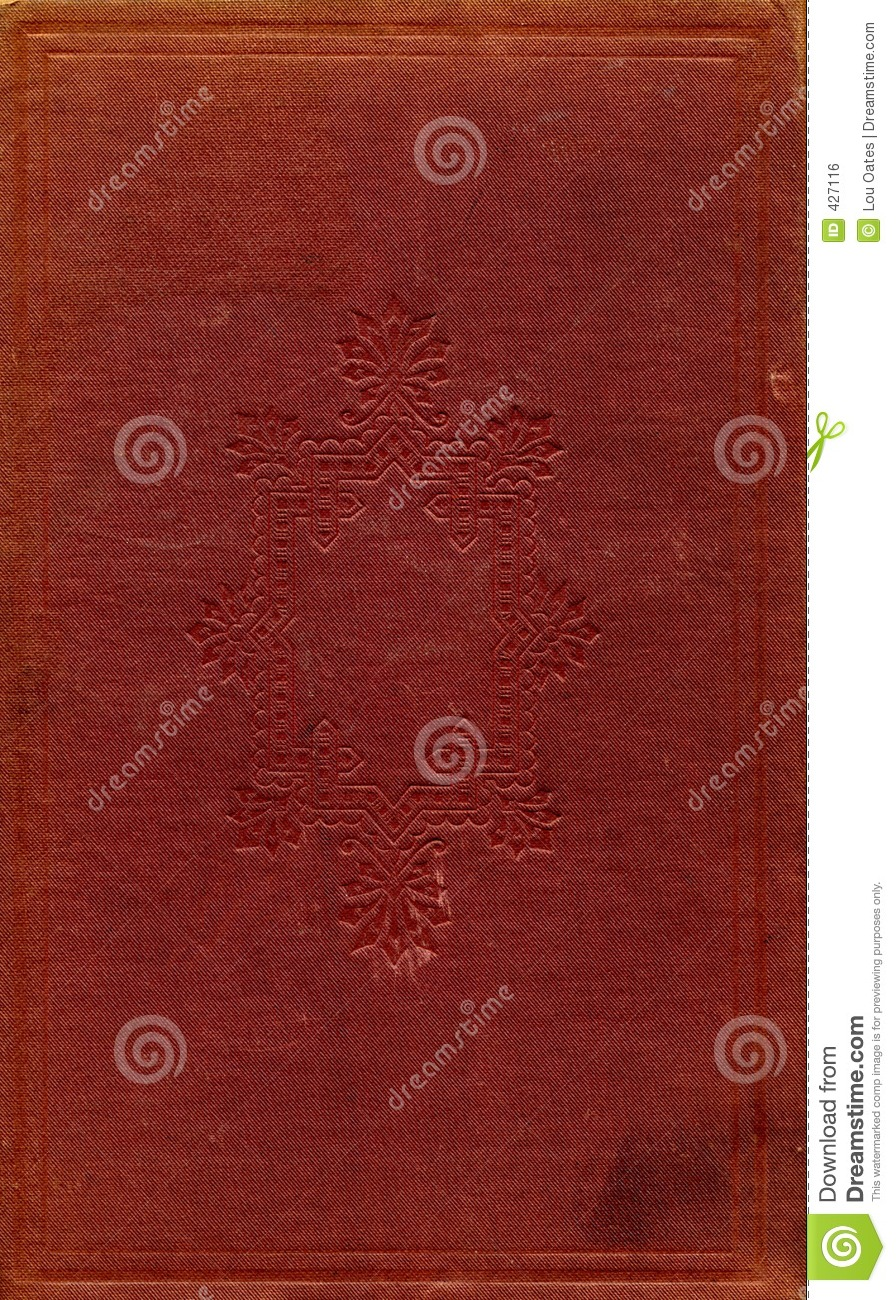 Vintage Book Cover Pattern ~ Antique book cover royalty free stock image