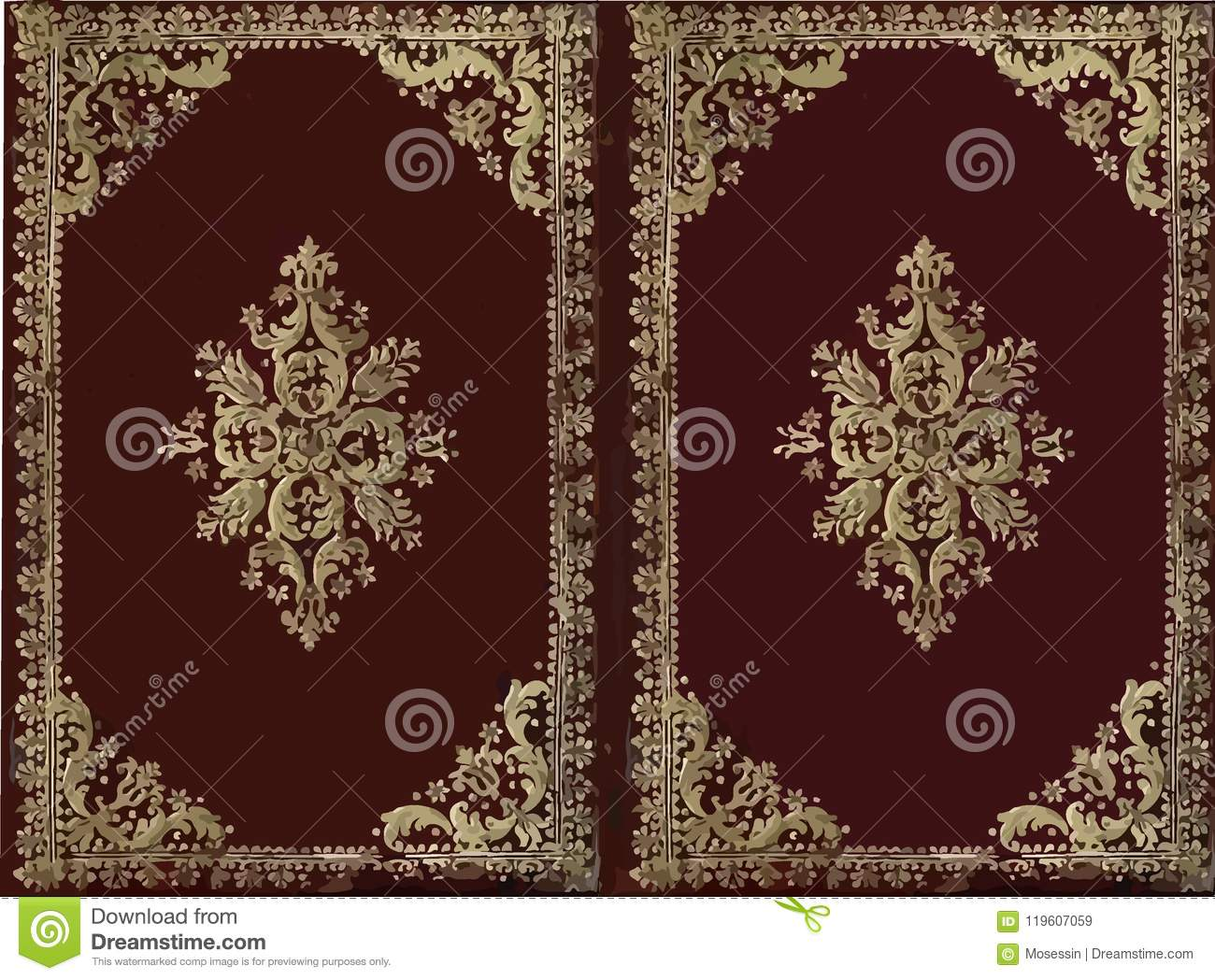Old Book Cover Vector Free : Antique book cover stock vector illustration of