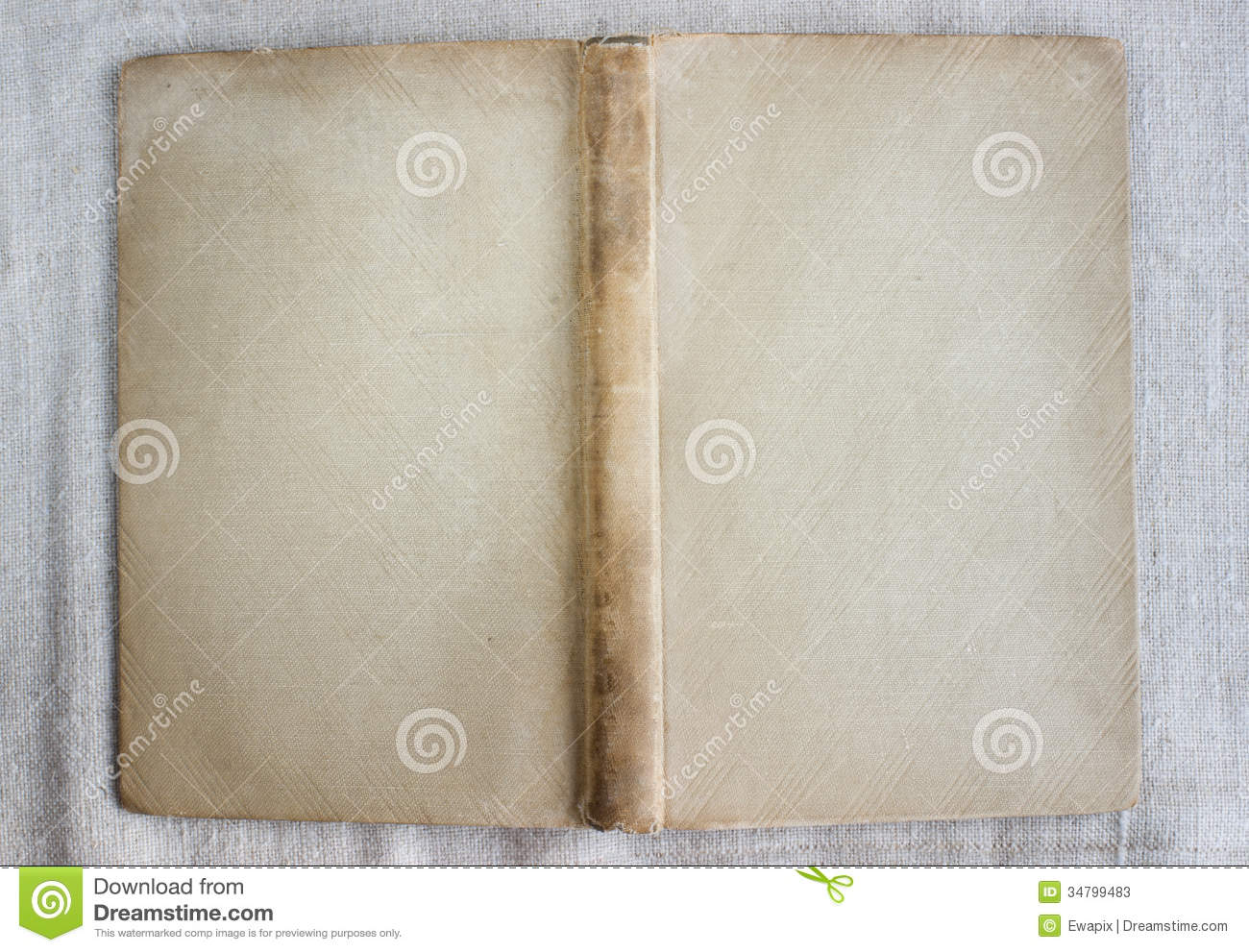 Fabric Book Cover Texture : Antique book cover open top view stock image of