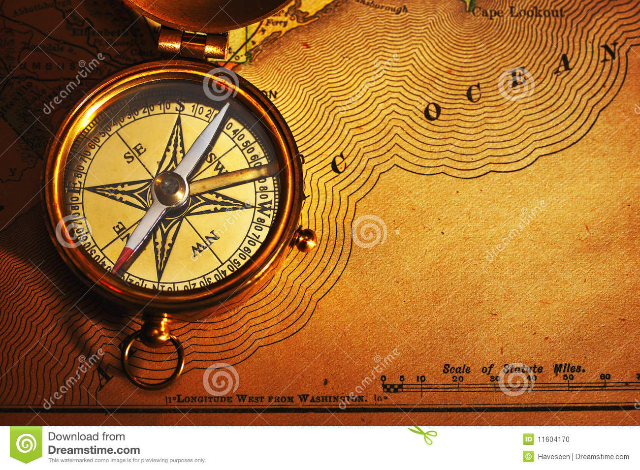 USA Map And Compass Stock Images Image - Antiques us maps with compass