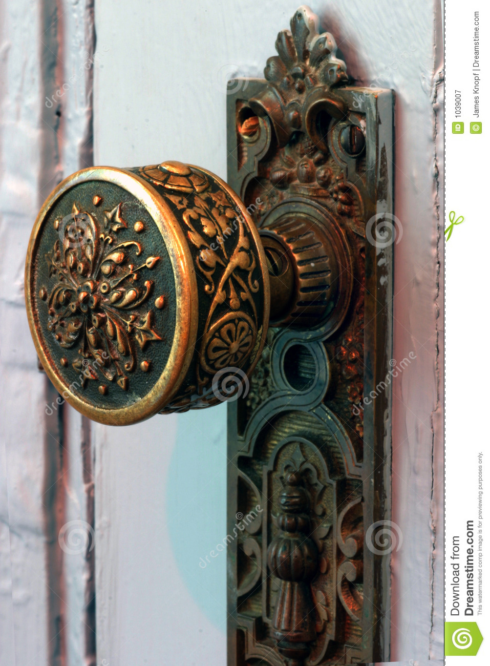 Antique Brass Door Knob Royalty Free Stock Photography
