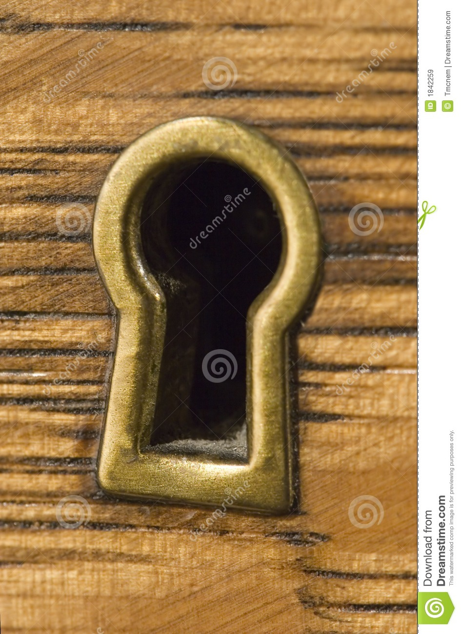 Antique Brass Keyhole Royalty Free Stock Images Image
