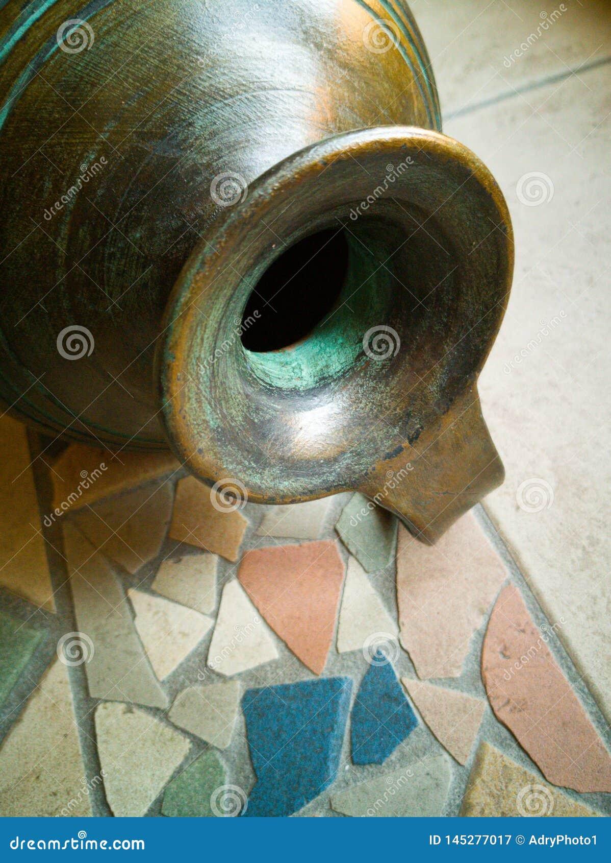 Antique bronze jug, Italian manufacture