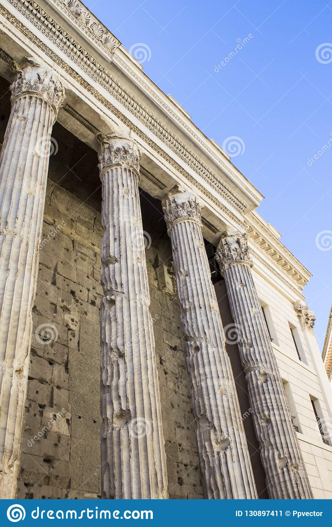 Antique Building With Columns Stock Image - Image of ...