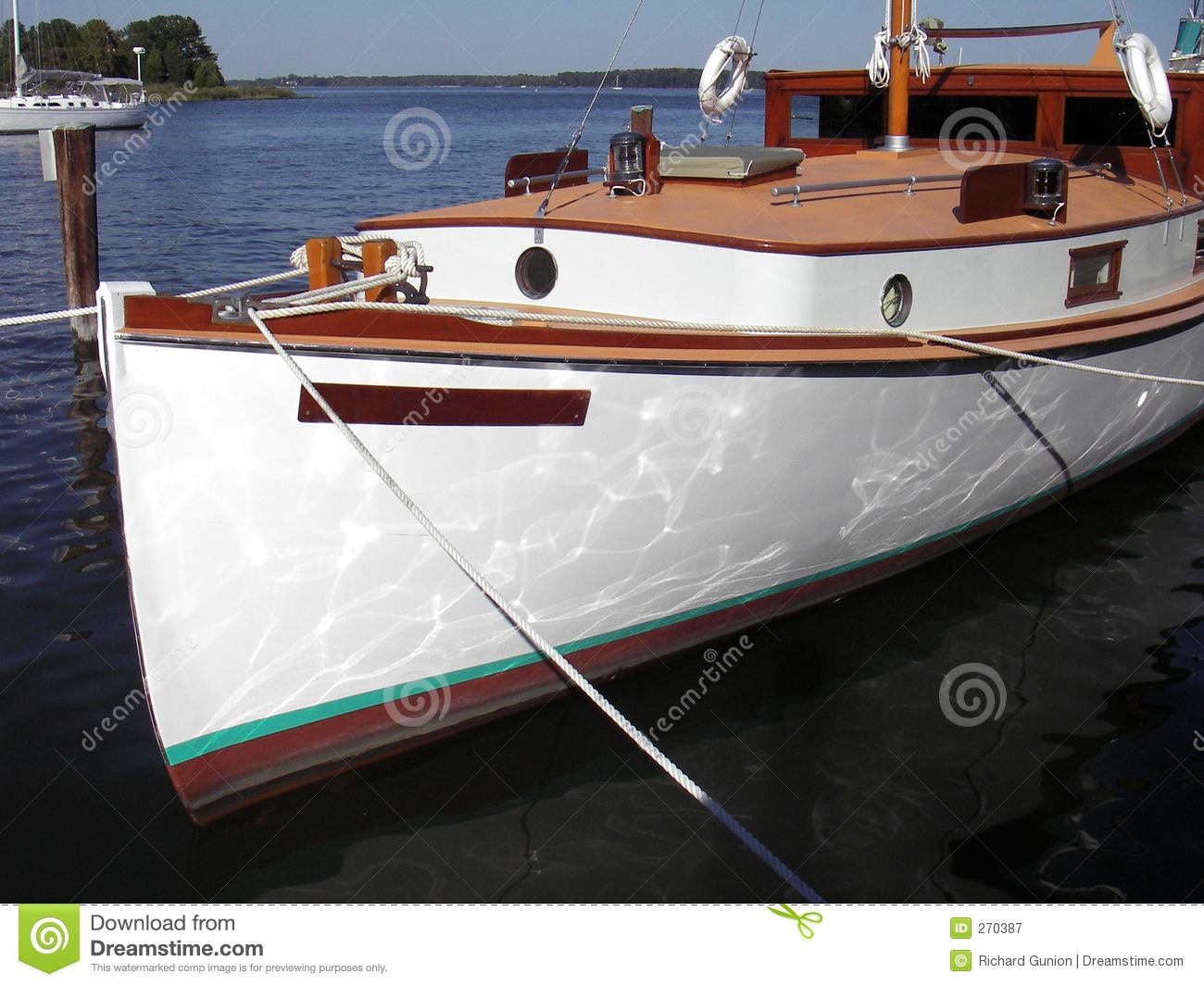 Antique Cabin Cruiser Royalty Free Stock Photography ...