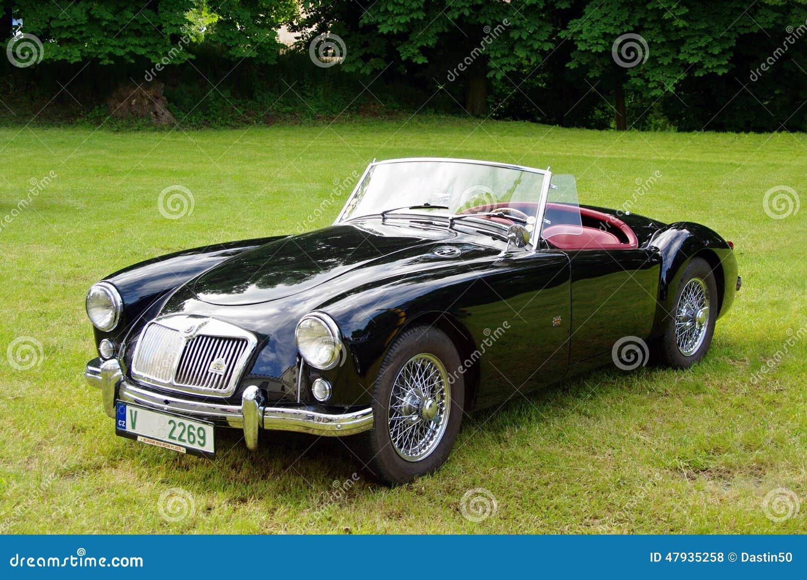 Antique Car MG Editorial Stock Photo