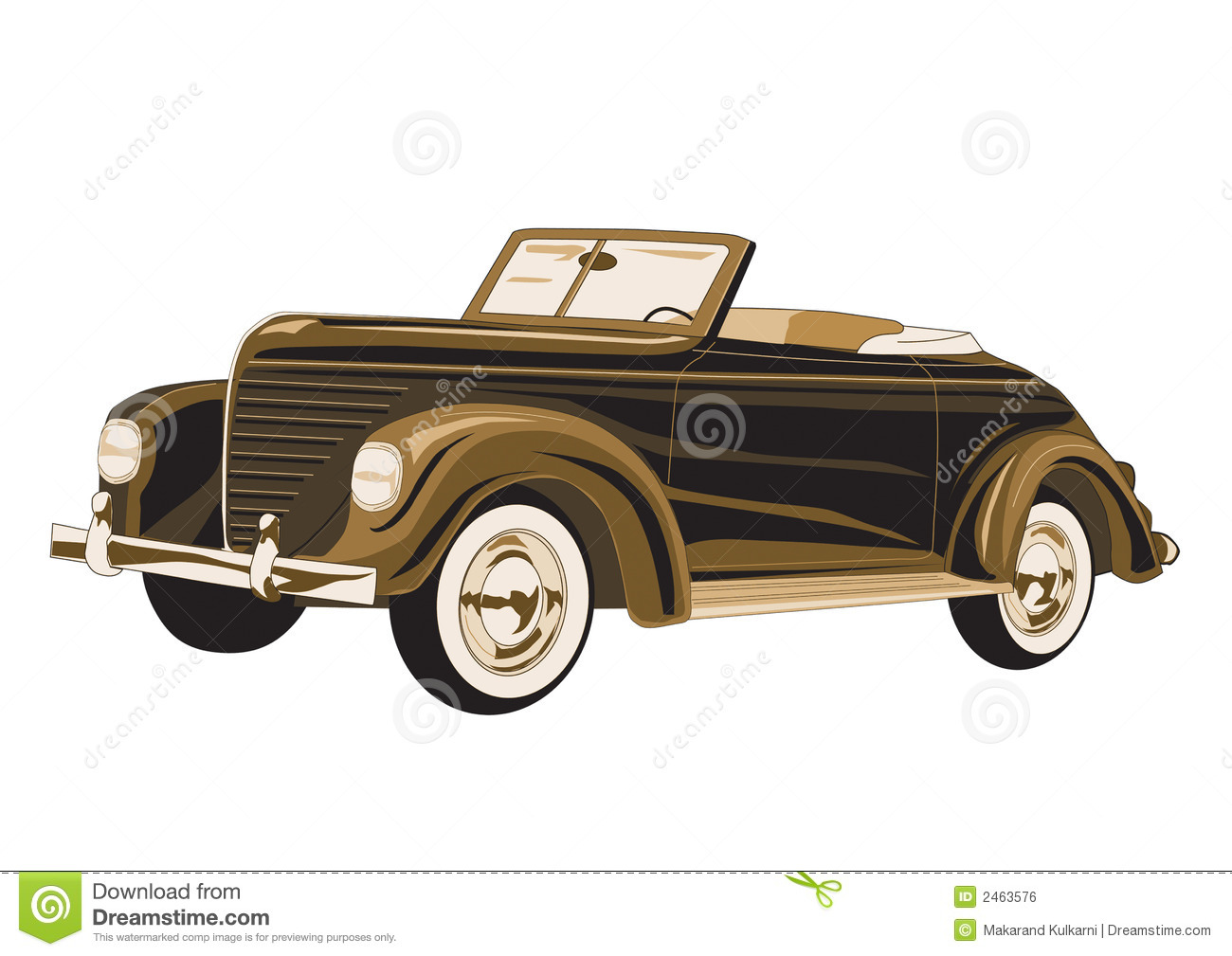 Antique Car poster stock illustration. Illustration of classic - 2463576