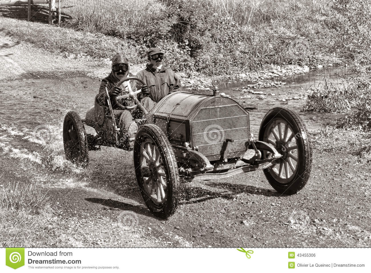 Antique Car Racing On Old Dirt Road Stock Photo Image