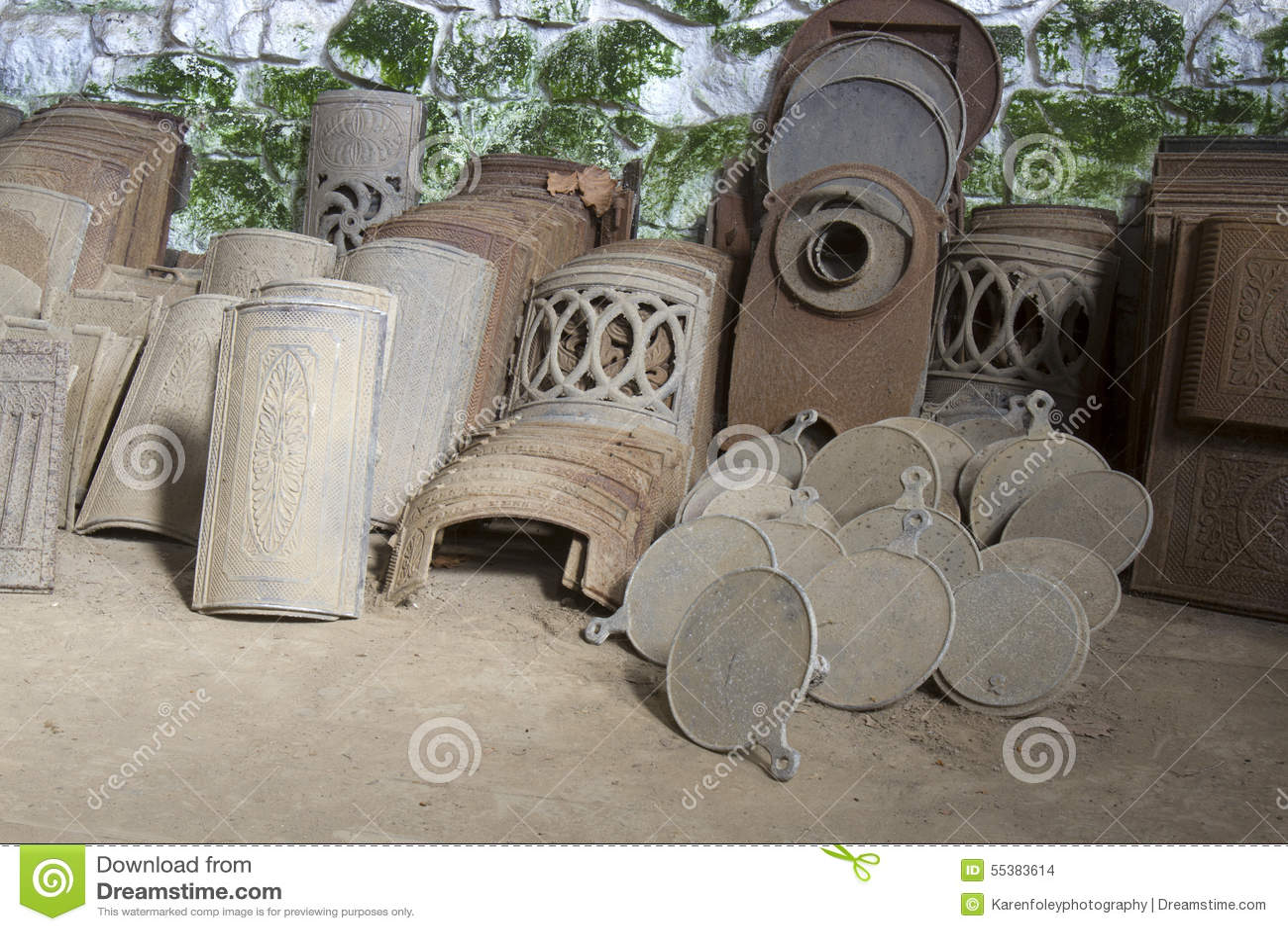 Antique Cast Iron Stove Parts Stock Photo Image 55383614