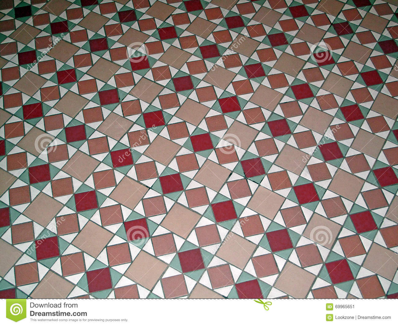 Antique Ceramic Tile Pattern Floor Stock Image - Image of decorative ...