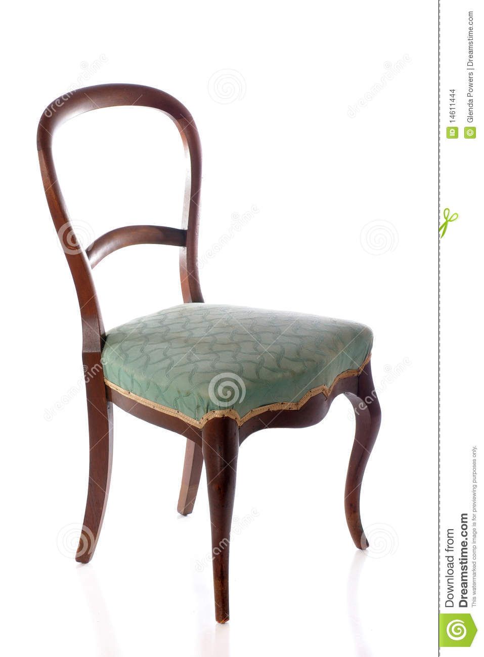 Antique Chair - Antique Chair Stock Photo. Image Of Curved, Green, Wood - 14611444
