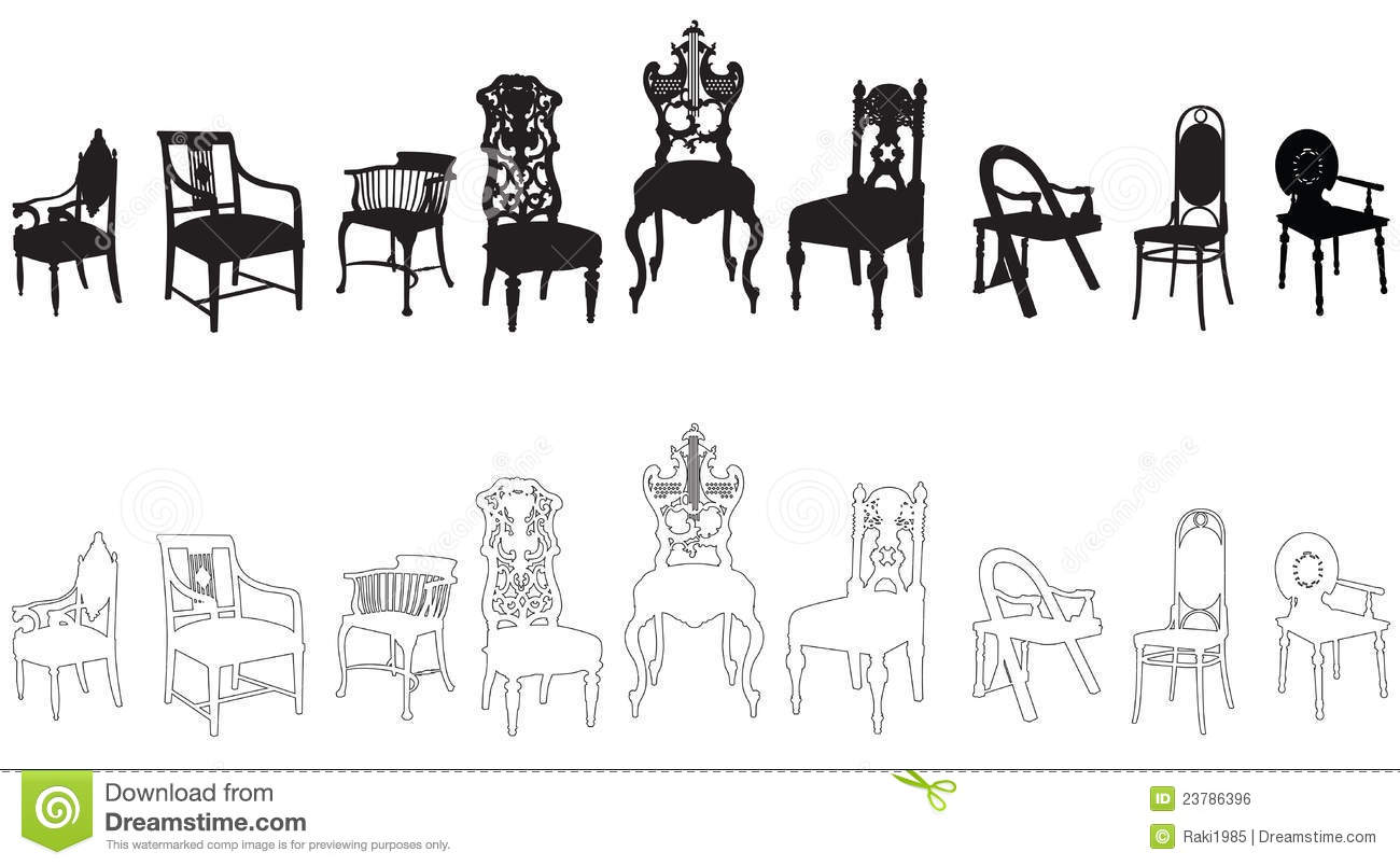 Antique chair silhouette - Antique Chairs