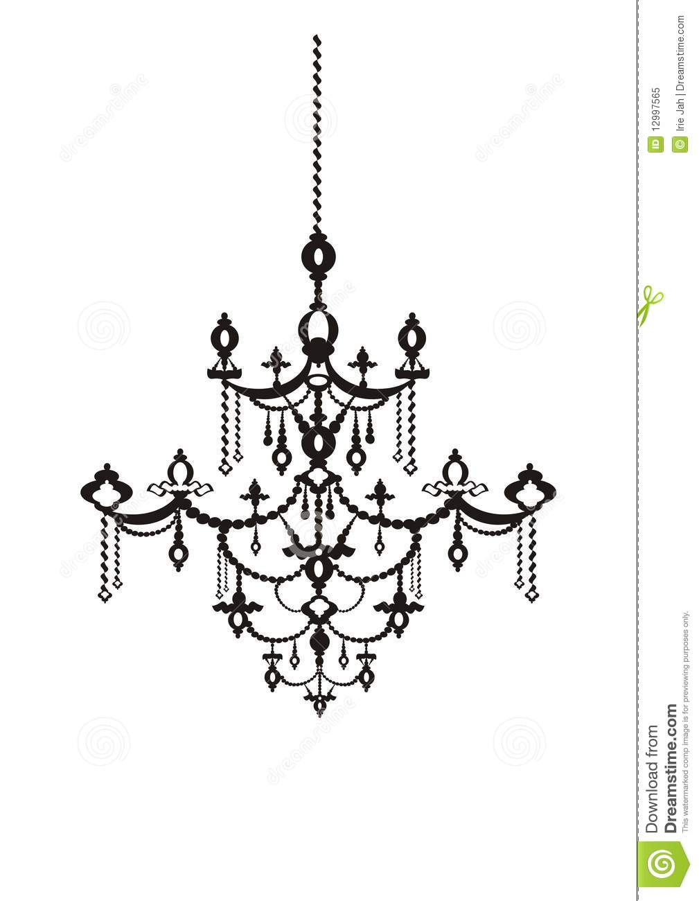 antique chandelier stock illustration illustration of. Black Bedroom Furniture Sets. Home Design Ideas