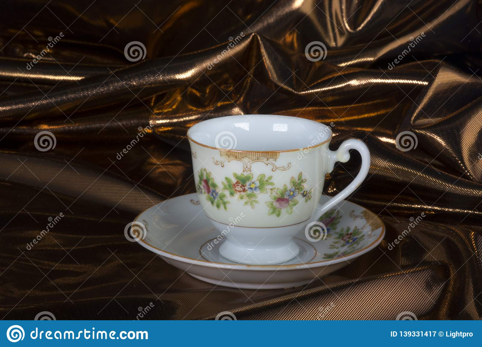 Antique tea cup and saucer stock image  Image of antique