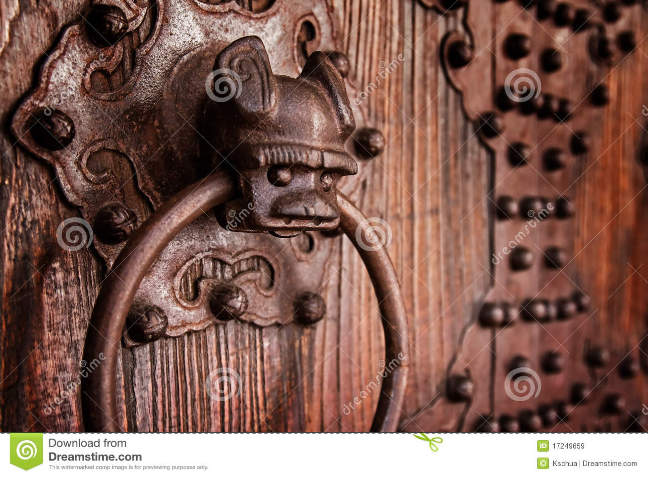 Antique chinese door knocker - Antique Chinese Door Knocker Stock Image - Image Of House, Closeup