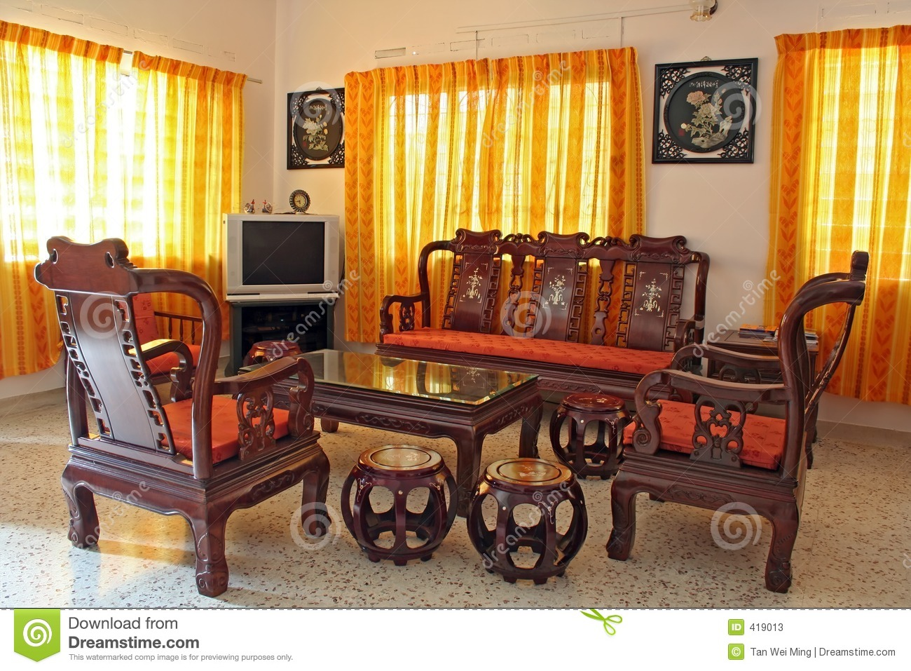 Antique Chinese Rosewood Furniture Stock Photos - Image: 419013