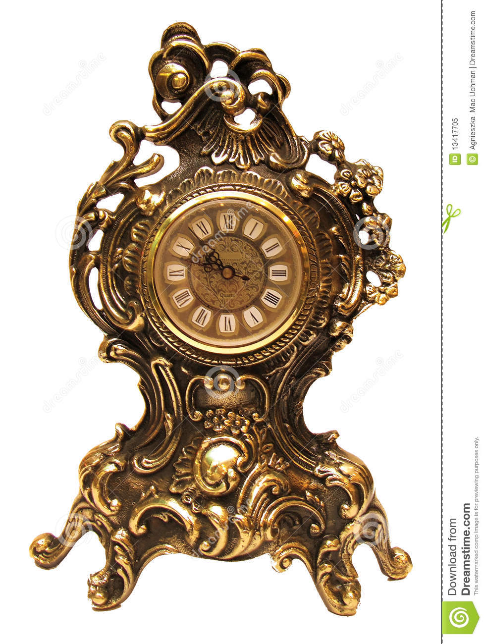 Antique Clock Stock Image Image Of Gold Timer Hours